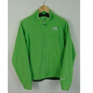 The North Face L Windstopper Fleece Green Jacket